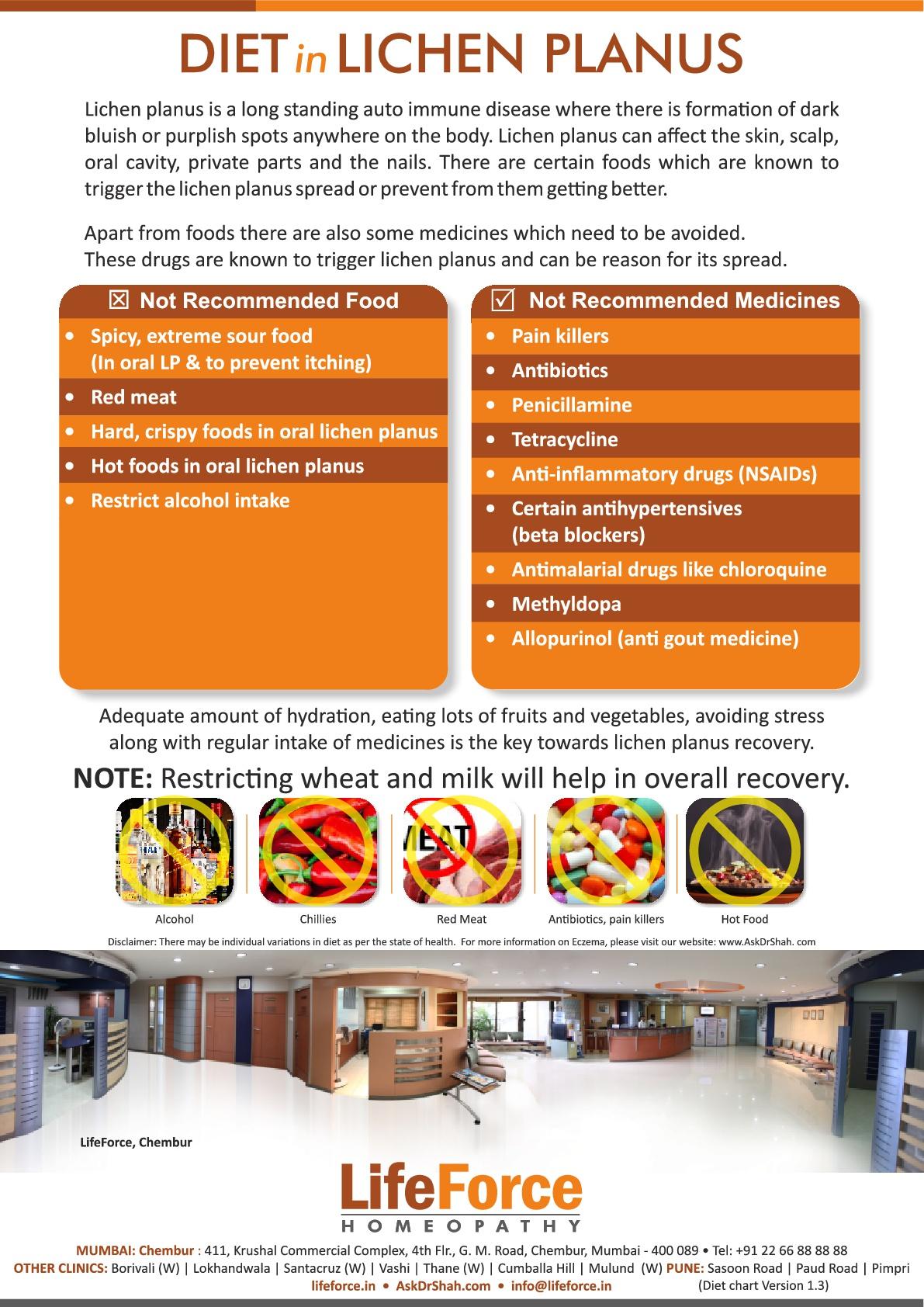 Diet foods for lichen planus